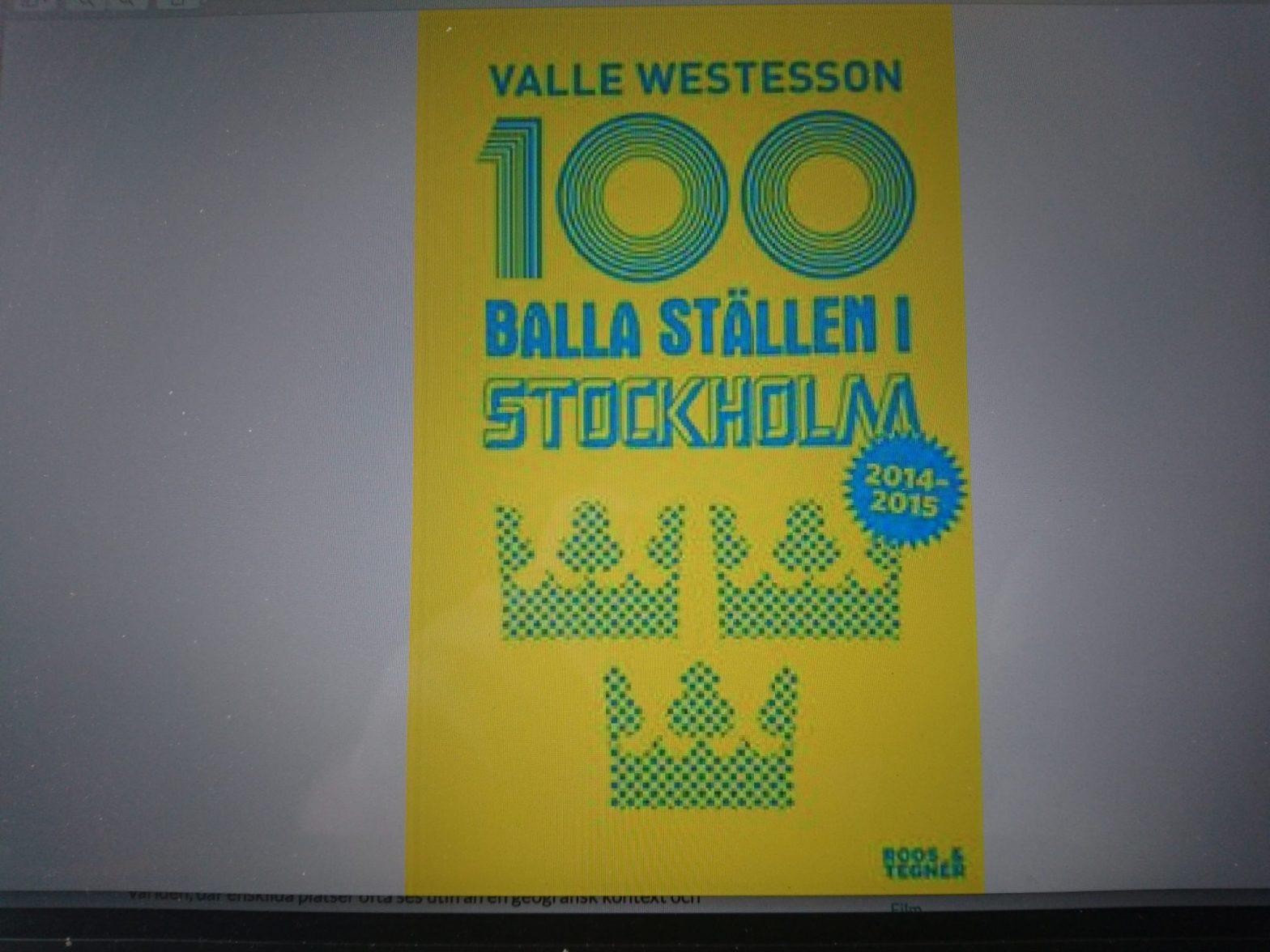 Omslag !00 balla ställen i Stockholm