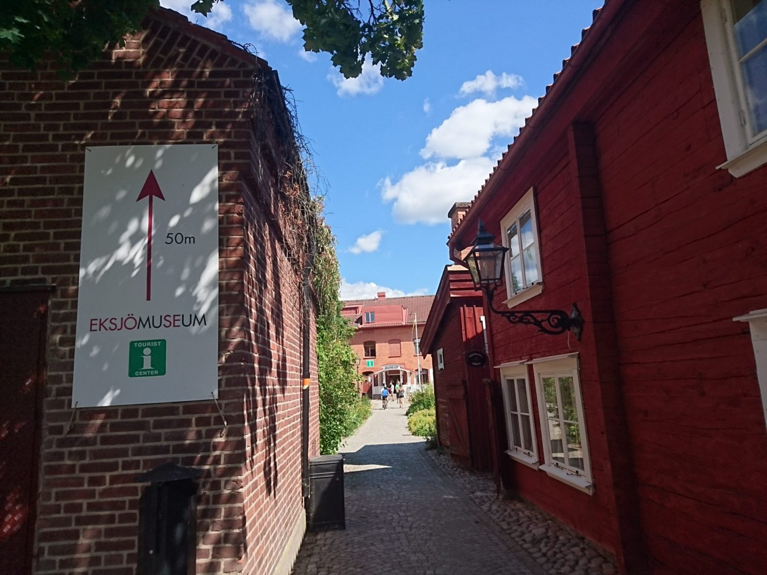 Vägen till Eksjö museum och turistbyrå.