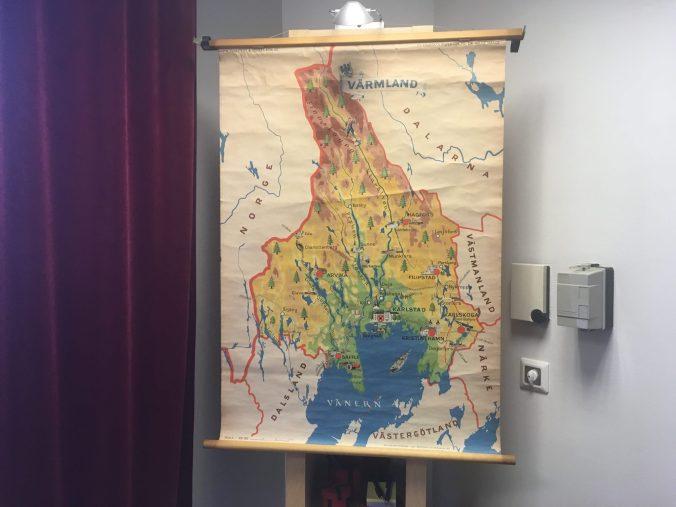 Skolkarta Värmland 1950-tal