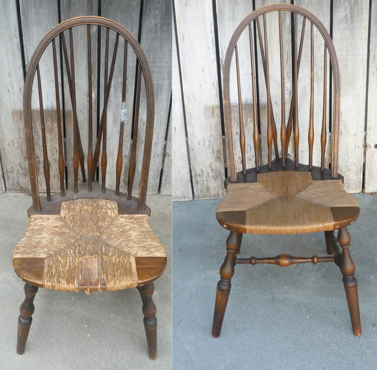 Fiber Rush Weaving For A 1920s Windsor Chair Reserchnrestorys