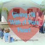 Giving My All With A Pure Heart