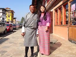 The traditional dress of Bhutan