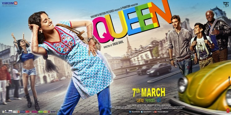Queen movie poster. Image courtesy:http://www.briskpost.com/2014/03/queen-kangana-shines-with-heap-of.html