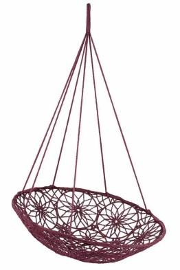 La balancelle en macramé imaginée par Carla Bruni dans le cadre de la collection Vip (Very Important Products) orchestrée en 2004 pour fêter les 40 ans de la marque Habitat.(