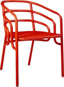 DOCK 75,00€ +0,40€ d'éco-part Chaise de jardin en métal rouge L.53 x H.74 x P.53 cm 915135