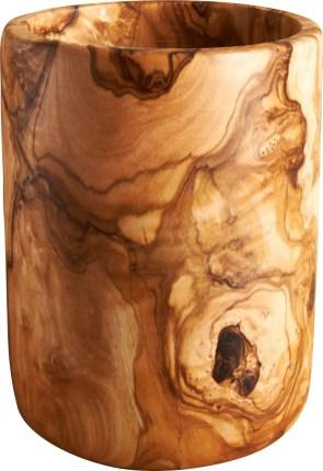 FARNANA 36,00€ Pot à couverts en bois d'olivier D.10,5 x H.14 cm 802552