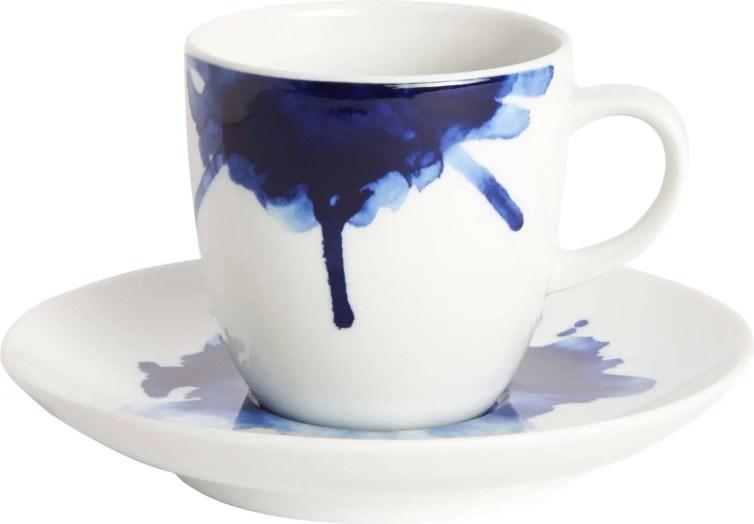 KEIU 8,00€ Tasse à café avec soucoupe en porcelaine D.10 x H.6 cm 801687