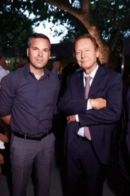 S. Fricaud (Endémique Concept) et M. Comboul (Président de Résidences Décoration).