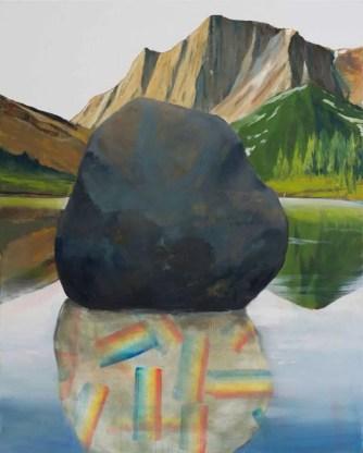 Gal Zucher David Lefebvre Montagne X huile sur toile