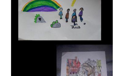Nouvelles créations artistisques des enfants de l'école «Notre Dame» à Marans pour les résidents de «Félicité»