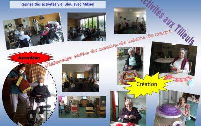 Accordéon, reprise de la gym avec Siel Bleu, vidéo adressée par les enfants du centre de loisirs                    – Les Tilleuls semaine du 15 au 19 Semaine 2020