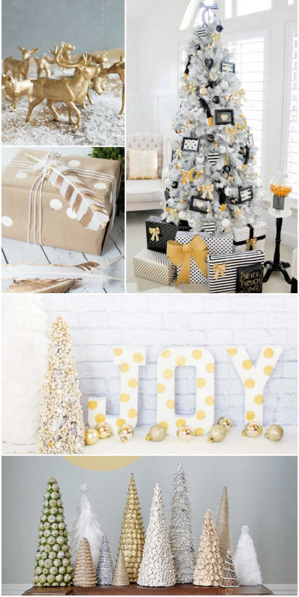 Beautiful Accessories For Christmas Decoration Using White Tree Ideas Marvelous Image Of