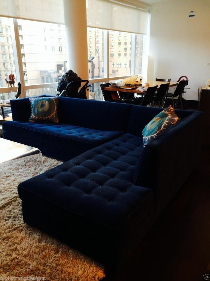 21 Diffe Style To Decorate Home With Blue Velvet Sofa