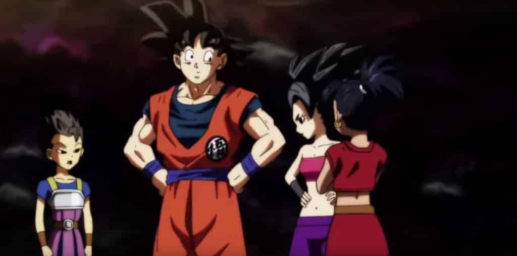 Goku Meets Caulifla and Kale