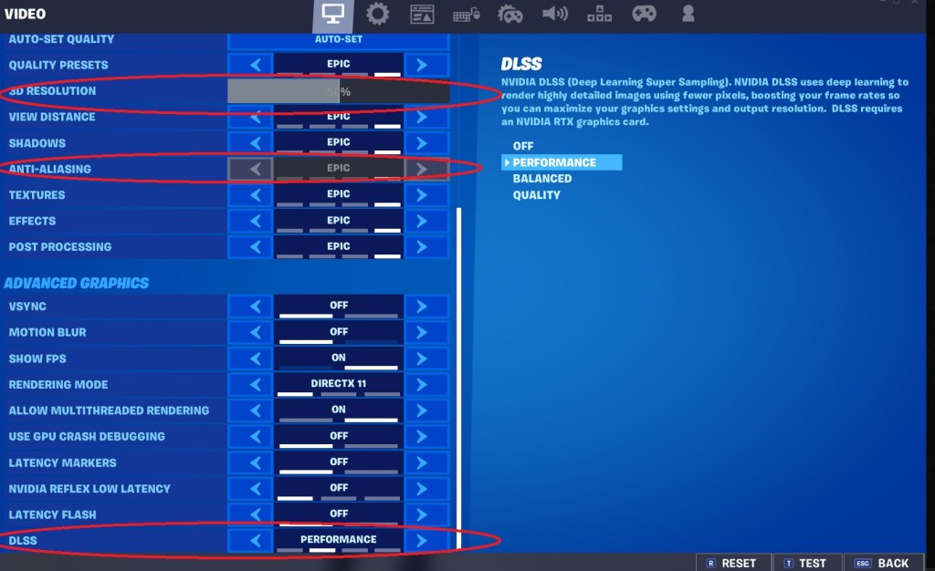 How To Fix Blurry Graphics In Fortnite - Step 4: Check your DLSS settings