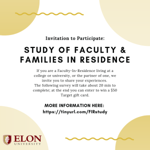 Study of Faculty & Families in Residence study