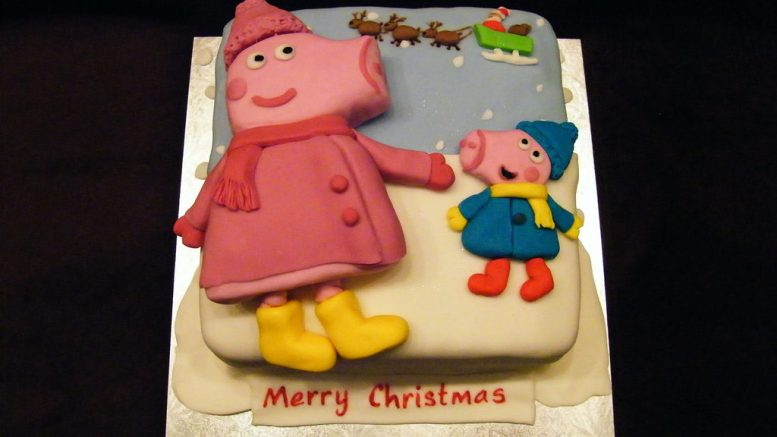 Peppa Pig Christmas Cake