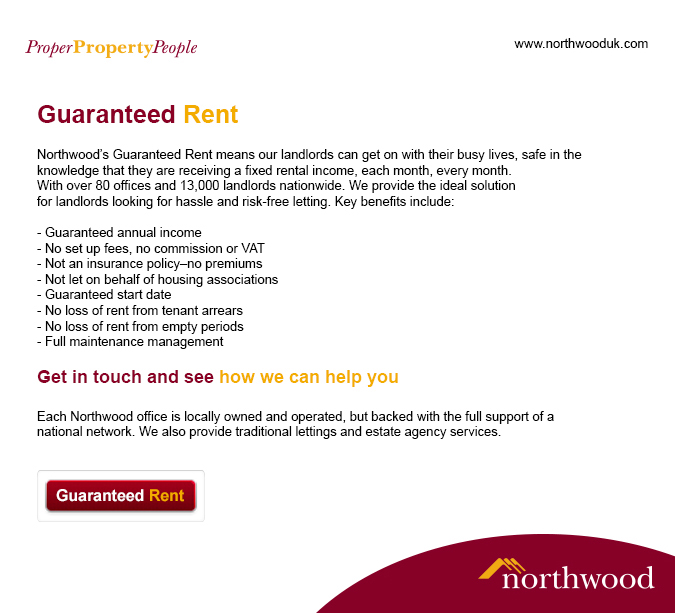 Guaranteed Rental Schemes Residential Landlord