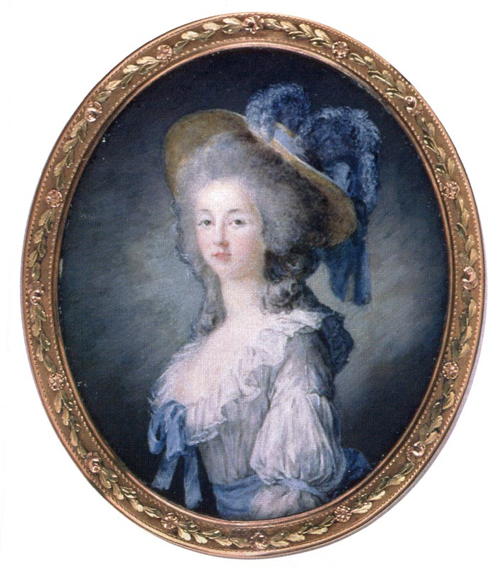 The Princess de Lamballe, Marie Antoinette's BFF, wearing a gaulle
