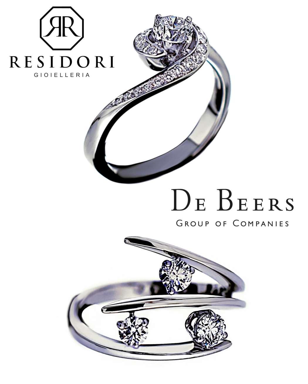 De Beers gioielli anelli