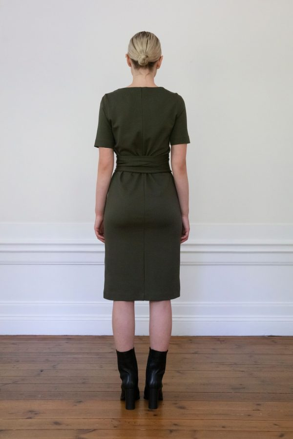 Residus dress Lilith Ink Green from back