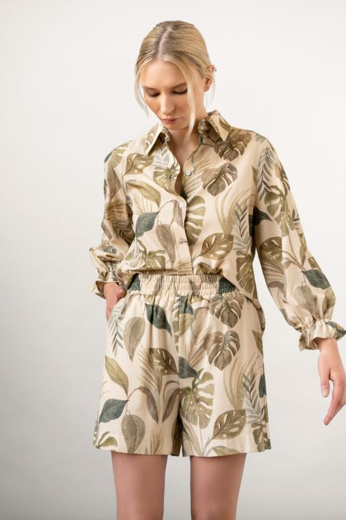 Winona Shirt and Wie Shorts Set Sand front