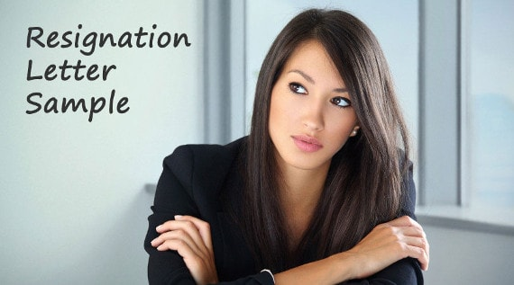 Young woman would like to have a resignation letter sample