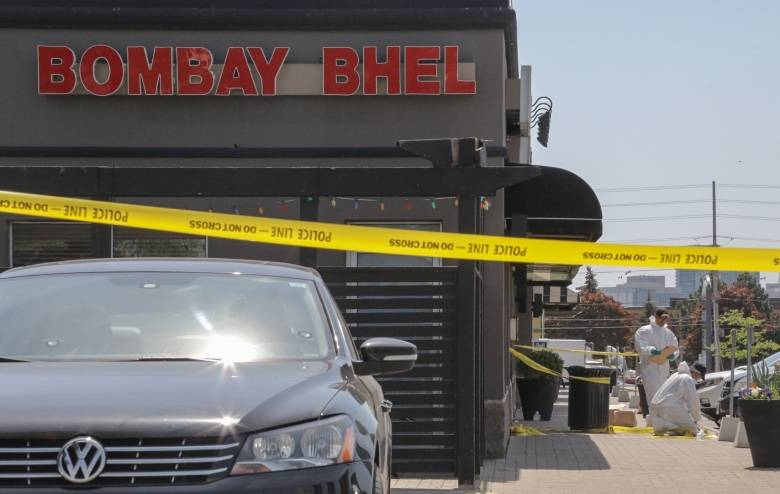 Investigators continue to search for clues near the Bombay Bhel on Friday