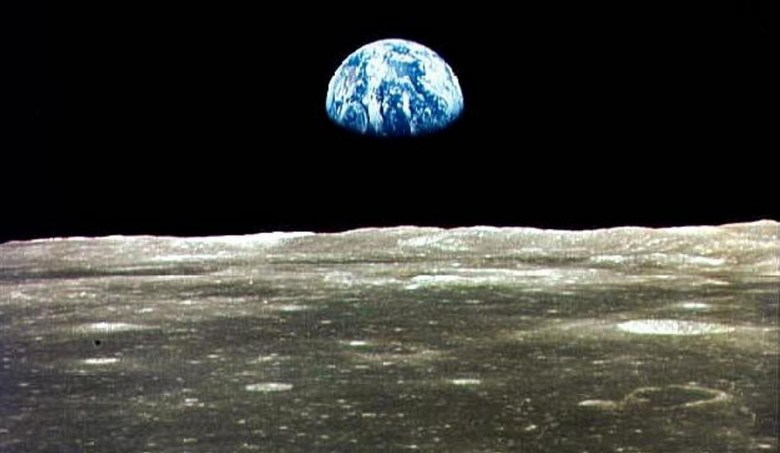 earth view from the moon