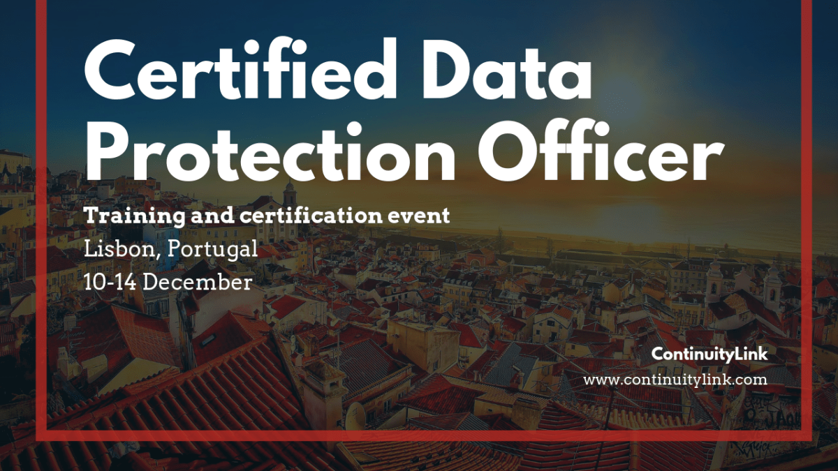 Is your organisation GDPR compliant? Join the Certified Data Protection Officer training in Lisbon