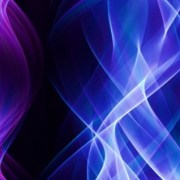 light art in blue and purple