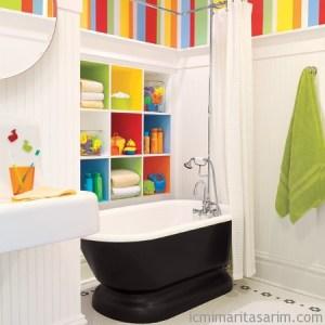 Parlak Ve Renkli Banyo Tasarım Fikirleri (27)
