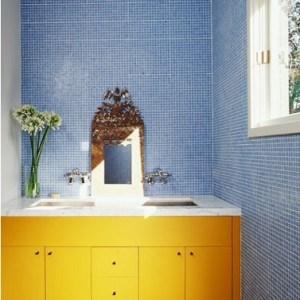 Parlak Ve Renkli Banyo Tasarım Fikirleri (29)