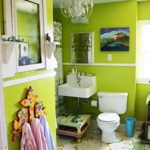 Parlak Ve Renkli Banyo Tasarım Fikirleri (32)