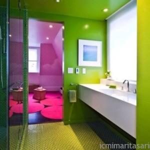 Parlak Ve Renkli Banyo Tasarım Fikirleri (8)