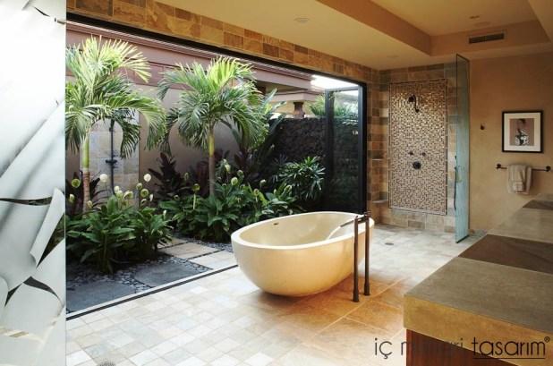 Banyoları Doğayla Buluşturan Tasarımlar (7)