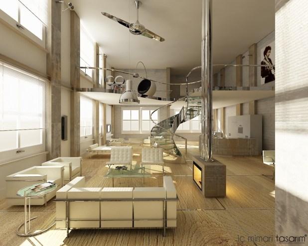 Klasik-retro-tarzı-modern-yaşam-alanı-tasarımları (8)