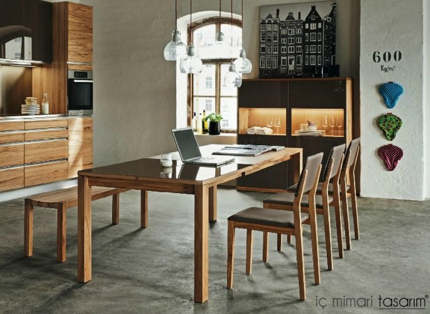Wooden-dining-room-furniture-set