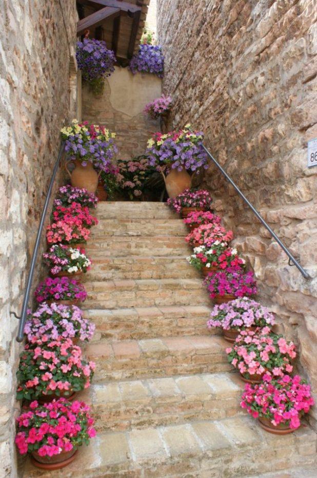 Çiçek Saksılarıyla İlhan Verici Dekorasyon Fikirleri (17)