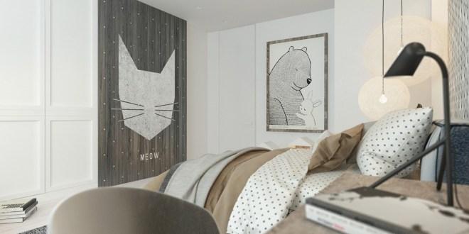 Sofistike Temalar ile Çocuk Yatak Odası (2)