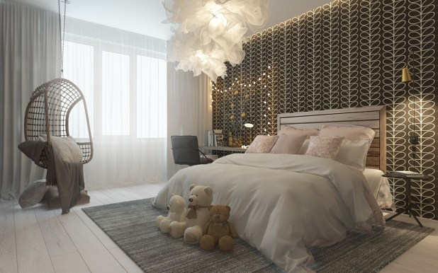 Sofistike Temalar ile Çocuk Yatak Odası (6)