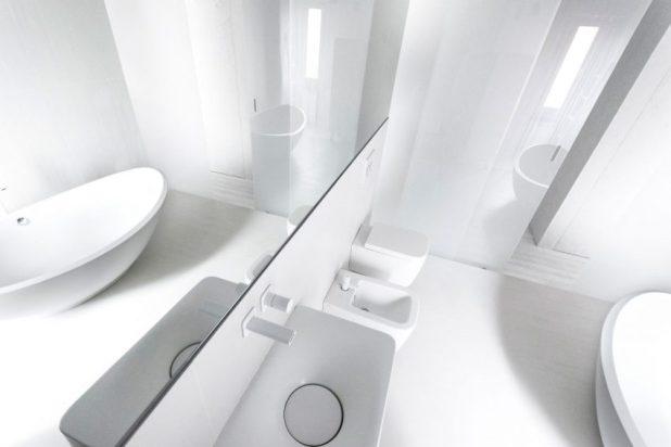 İtalyan Stili Beyaz Moder Ev Tasarımıları (4)