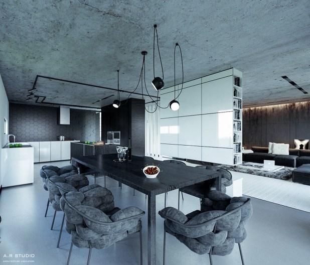 Zarif Tasarımlı 30 farklı Yemek Odası Tasarımları (12)