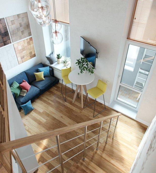 Yüksek Tavanlı Küçük Evlerde Ferahlık Veren İç Dekorasyon (10)