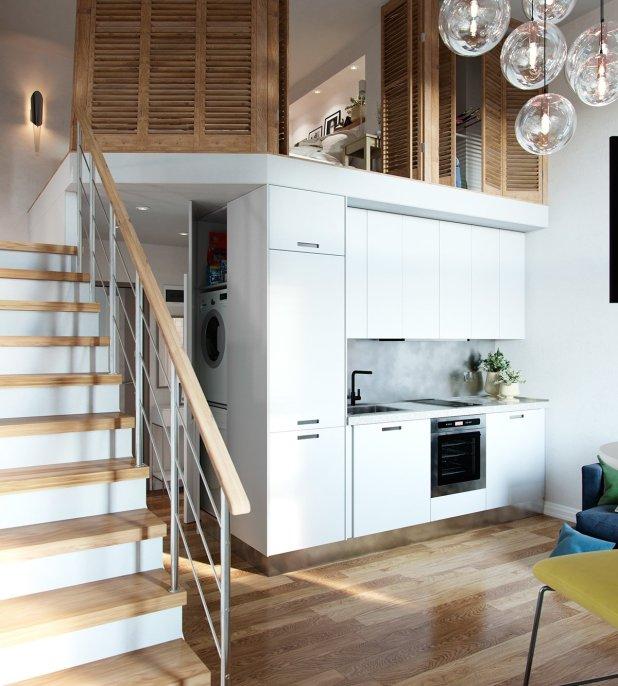 Yüksek Tavanlı Küçük Evlerde Ferahlık Veren İç Dekorasyon (7)