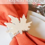 Autumn Leaf Napkin Rings Resin Crafts