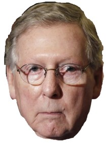 Mitch McConnell Haloween mask