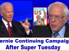 Bernie Sanders Super Tuesday and Continuing the Campaign