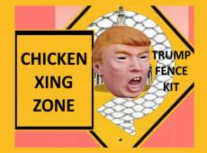 Donald Trump Chicken Wire Fence Kit