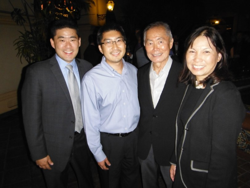 JACL national officers with George Takei